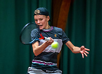 Wateringen, The Netherlands, December 4,  2019, De Rhijenhof , NOJK 14 and18 years, Abel Forger (NED)<br /> Photo: www.tennisimages.com/Henk Koster