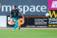 Bersant Celina of Swansea City scores the opening goal during the pre season friendly match between Exeter City and Swansea City at St James Park in Exeter, England, UK. Saturday, 20 July 2019