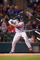 Syracuse Chiefs catcher Pedro Severino (4) at bat during a game against the Rochester Red Wings on July 1, 2016 at Frontier Field in Rochester, New York.  Rochester defeated Syracuse 5-3.  (Mike Janes/Four Seam Images)