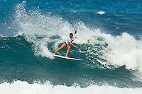 SUNSET BEACH, Oahu/Hawaii (Thursday, December 2, 2010) - Coco Ho (HAW).    Brazilian Raoni Monteiro (BRA) became the first Brazilian in 20 years to take out the Men's division of the O'Neill World Cup of Surfing today. Julian Wilson (AUS) who won the Rookie of the Triple Crown and is leading the Triple Crown ratings finished in 2nd with Granger Larsen (HAW) in 3rd and  Josh Kerr (AUS) in 4th .Contest  Wildcard Tyler Wright (AUS), 16,  won the O'Neill Women's World Cup of Surfing, topping Sunset Beach local Coco Ho (HAW), 19, reigning four-time ASP Women's World Champion Stephanie Gilmore (AUS), 22, and ASP Women's World Tour No. 2 Sally Fitzgibbons (AUS), 19, in two-to-four foot (1 metre) surf at Sunset Beach. Wright was also named Women's Rookie of the Triple Crown..Photo: joliphotos.com