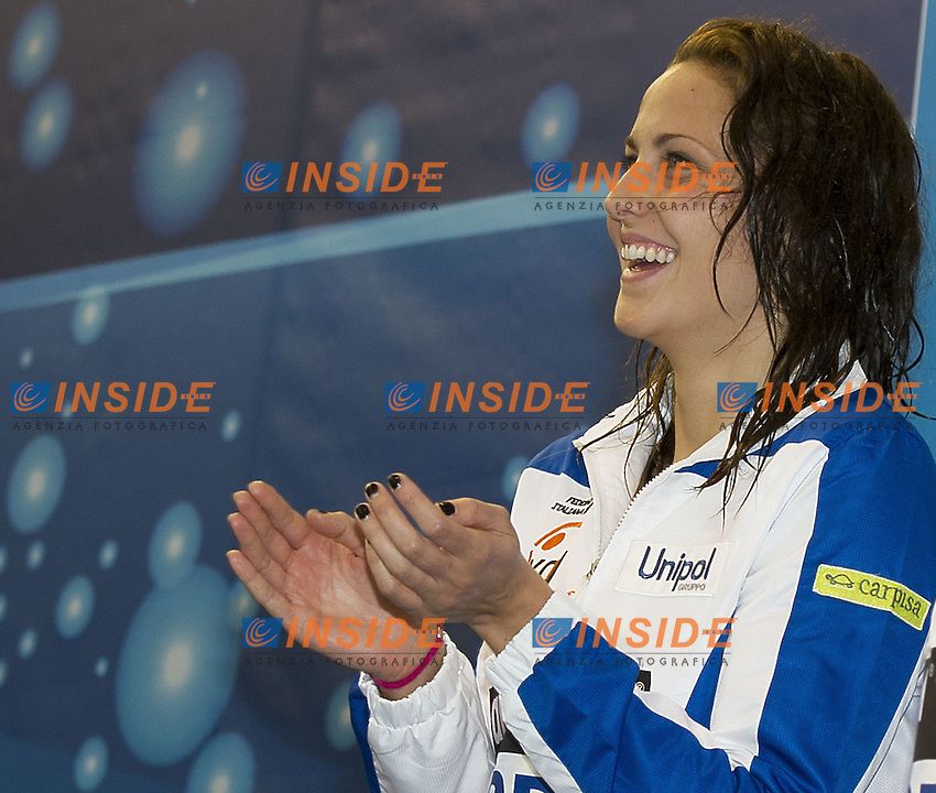 BARBIERI Arianna - ITA.50 BACKSTROKE WOMEN.silver medal.Debrecen Hungary 20 May 2012.Debreceni Sportuszoda pool .European Swimming Championships 2012.Campionati Europei Nuoto.Day06.Photo G.Scala/Deepbluemedia/Insidefoto