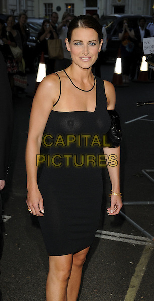 KIRSTY GALLACHER.Glamour Women of the Year Awards 2009 at Berkeley Square Gardens, London, England. .June 2nd, 2009 .half 3/4 length black one shoulder sheer dress no bra braless nipples breasts boobs see through thru .CAP/CAN.©Can Nguyen/Capital Pictures.