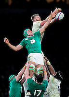 Ultan Dillane of Ireland competes with George Kruis of England for the ball at a lineout. RBS Six Nations match between England and Ireland on February 27, 2016 at Twickenham Stadium in London, England. Photo by: Patrick Khachfe / Onside Images