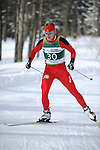 9 MAR 2011: Miles Havlick of the University of Utah competes in the men's 10km freestyle cross country race during the 2011 NCAA Men and Women's Division I Skiing Championship held Stowe Mountain Resort and Trapp Family Lodge in Stowe, VT. Havlick placed 3rd to win the bronze. ©Brett Wilhelm/NCAA Photos