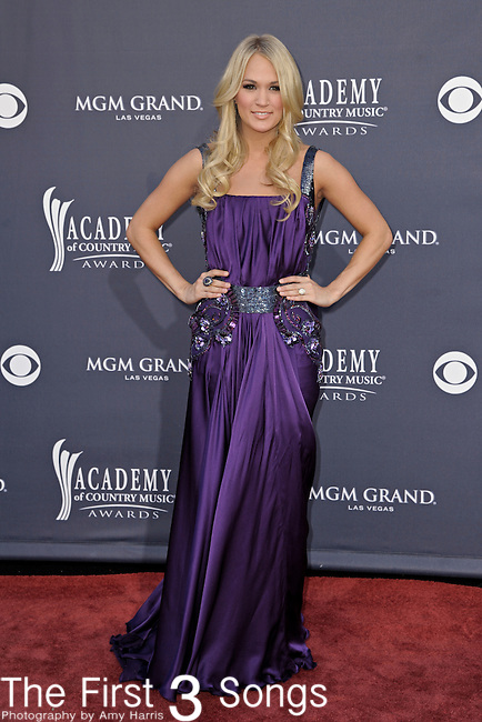 Carrie Underwood attends the 46th Annual Academy of Country Music Awards in Las Vegas, Nevada on April 3, 2011.