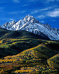 Mount Sneffels in the San Juan Mountains, autumn aspen trees, Telluride, Colorado, USA John offers autumn photo tours throughout Colorado.