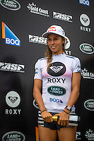 SNAPPER ROCKS, Queensland/Australia (Saturday, March 9, 2013) Sally Fitzgibbons (AUS). -Tyler Wright (AUS), 18, has claimed the 2013 Roxy Pro Gold Coast presented by Land Rover over Sally Fitzgibbons (AUS), 22, in punchy two-to-three foot (1 metre) waves at the primary venue of Snapper Rocks..Event No. 1 of 7 on the 2013 ASP Women's World Championship Tour (WCT), the Roxy Pro Gold Coast enjoyed a down-to-the-wire finish today with Wright and Fitzgibbons going head-to-head in a fiercely-fought Final..Despite Fitzgibbons holding the lead for the majority of the heat, Wright secured a wave in the dying moments and tore it apart for a 9.20 out of a possible 10, taking the heat lead and the win..With a win at the opening stop of the year, Wright takes the initial lead in the hunt for the 2013 ASP Women's World Title, but the young natural-footer is focused on enjoying the moment for now..Fitzgibbons, 2012 ASP Women's World Runner-Up, was one of the form surfers of the event and transferred that form into the Final. However, the young South Coast surfer permitted Wright to take the heat-winning wave from under her priority, a mistake that would cost Fitzgibbons dearly..Carissa Moore (HAW), 20, 2011 ASP Women's World Champion, continued with her brand of progressive ripping at the opening event of the season, but it was not enough this morning in her Semifinal clash with Fitzgibbons..Stephanie Gilmore (AUS), 25, reigning five-time ASP Women's World Champion and 2012 Roxy Pro Gold Coast winner, was the favorite heading into this year's opening event and her form until the final day was near flawless. However, the hometown natural-footer was ousted from competition this morning in her Semifinal bout against an in-form Wright.Photo: joliphotos.com