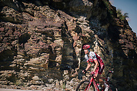 Pavel Kochetkov (RUS/Katusha-Alpecin) up the final climb of the day (in Spain!): the Col du Portillon (Cat1/1292m)<br /> <br /> Stage 16: Carcassonne &gt; Bagn&egrave;res-de-Luchon (218km)<br /> <br /> 105th Tour de France 2018<br /> &copy;kramon