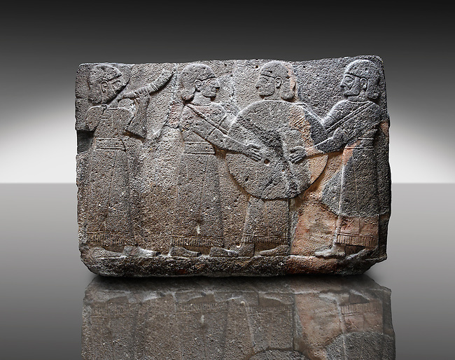 Picture & image of a Neo-Hittite orthostat showing goddess Kubaba  from  the legend of Gilgamesh from Karkamis,, Turkey. Museum of Anatolian Civilisations, Ankara.