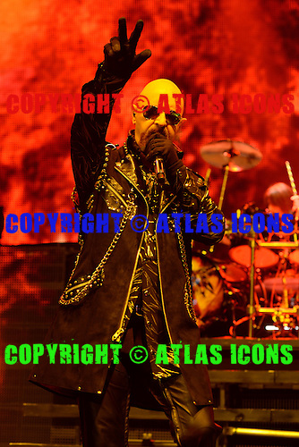 HOLLYWOOD FL - OCTOBER 30 : Rob Halford of Judas Priest performs at Hard Rock Live held at the Seminole Hard Rock Hotel & Casino on October 30, 2014 in Hollywood, Florida. : Credit Larry Marano (C) 2014