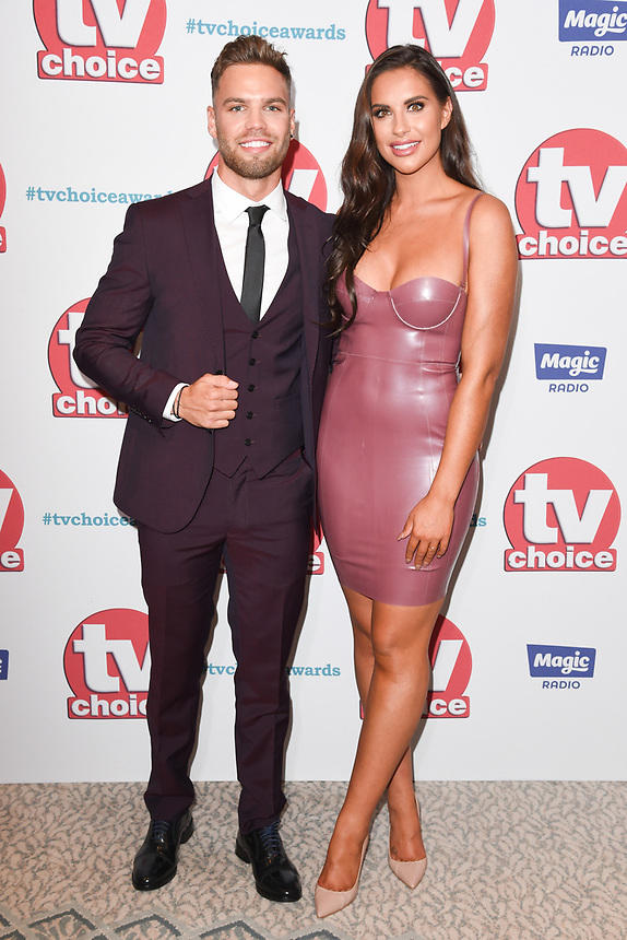 Dominic Lever and Jess Shears<br /> arriving for the TV Choice Awards 2017 at The Dorchester Hotel, London. <br /> <br /> <br /> ©Ash Knotek  D3303  04/09/2017