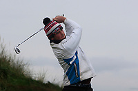 Daniel Ford (Co. Sligo) on the 1st tee during Round 2 of the Ulster Boys Championship at Portrush Golf Club, Portrush, Co. Antrim on the Valley course on Wednesday 31st Oct 2018.<br /> Picture:  Thos Caffrey / www.golffile.ie<br /> <br /> All photo usage must carry mandatory copyright credit (&copy; Golffile | Thos Caffrey)