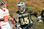 Redondo Beach, CA 05/11/10 - Tajee Mobley (MC # 25) in action during the 2010 Los Angeles Boys Lacrosse championship game, Mira Costa defeated Palos Verdes 12-10 at Redondo Union High School.