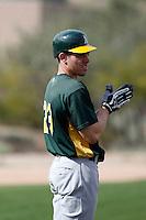 Matt Carson - Oakland Athletics 2009 spring training.Photo by:  Bill Mitchell/Four Seam Images