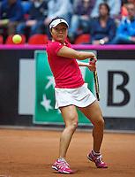 The Netherlands, Den Bosch, 16.04.2014. Fed Cup Netherlands-Japan, Kurumi Nara (JPN)<br /> Photo:Tennisimages/Henk Koster