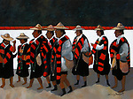 Chiapas; Gathering of a Religious Festival <br /> 30x40 Acrylic on Canvas<br /> $20,000