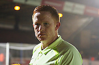 Referee Alan Young in his first game as an EFL Referee who replaced Rob Lewis at half time during the Sky Bet League 2 match between Wycombe Wanderers and Leyton Orient at Adams Park, High Wycombe, England on 17 December 2016. Photo by David Horn / PRiME Media Images.