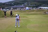 Zander Lombard (RSA) putts on the 1st green during Saturday's Round 3 of the 2018 Dubai Duty Free Irish Open, held at Ballyliffin Golf Club, Ireland. 7th July 2018.<br /> Picture: Eoin Clarke | Golffile<br /> <br /> <br /> All photos usage must carry mandatory copyright credit (&copy; Golffile | Eoin Clarke)