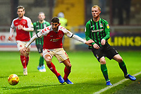 Fleetwood Town's Ched Evans vies for possession with Coventry City's Jack Grimmer<br /> <br /> Photographer Richard Martin-Roberts/CameraSport<br /> <br /> The EFL Sky Bet League One - Fleetwood Town v Coventry City - Tuesday 27th November 2018 - Highbury Stadium - Fleetwood<br /> <br /> World Copyright &not;&copy; 2018 CameraSport. All rights reserved. 43 Linden Ave. Countesthorpe. Leicester. England. LE8 5PG - Tel: +44 (0) 116 277 4147 - admin@camerasport.com - www.camerasport.com