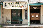 Magnolia Saloon, est. 1851, downtown architecture and details, historic Mother Lode Gold Country town of Coulterville in Mariposa County.