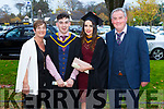 Margaret O'Sullivan, Graduates in Health and Leisure Eddie O'Sullivan and Shauna Kelly, and Edward O'Sullivan at the IT Tralee graduation ceremony at the Brandon hotel, Tralee on Thursday