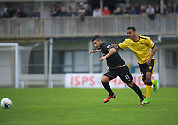 Wellington Phoenix's Ahmed Othman fouls Team Wellington's Mario Barcia during the ISPS Handa Premiership football match between Team Wellington and Wellington Phoenix Reserves at David Farrington Park in Wellington, New Zealand on Sunday, 17 November 2019. Photo: Dave Lintott / lintottphoto.co.nz