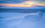 Idaho, North, Rathdrum. Sunset on the Rathdrum Prarie with drifted snow.