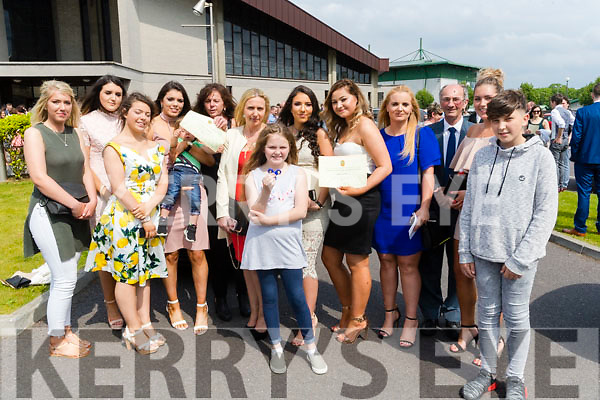 Pictured at Mounthawk Secondary School, Tralee, graduation Mass at Our Lady & St. Brendan's Church, Tralee on Friday afternoon last were l-r: Leanne O'Brien, Geraldine Knightly, Sandra Sab and Chloe Lawlor and their famlies.