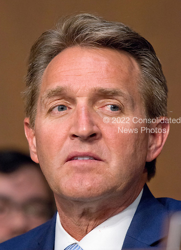 United States Senator Jeff Flake (Republican of Arizona)  listens as Judge Neil Gorsuch testifies before the United States Senate Judiciary Committee on his nomination as Associate Justice of the US Supreme Court to replace the late Justice Antonin Scalia on Capitol Hill in Washington, DC on Monday, March 20, 2017.<br /> Credit: Ron Sachs / CNP<br /> (RESTRICTION: NO New York or New Jersey Newspapers or newspapers within a 75 mile radius of New York City)