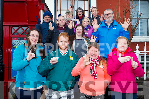 Members of the Deaf community in Kerry gathered to welcome the Irish Sign Language Bill which will recognise ISL as an official third language in Ireland. Pictured front l-r were: Bernadette O'Connor (Kerry Deaf Group), Johnny Prendergast, Nicola Walsh, Rebecca O'Donoghue. Middle row l-r: Mark O'Brien, Maurice Dillon, Geraldine Broderick, Noelle Reidy and John Duggan. Back l-r were: Bernadette White, Mary Duggan and Patrick Doody.