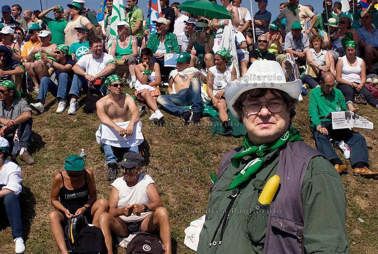 Italia, Pontida (BG)   14/06/09 .Raduno Lega Nord.#####.Italy, Pontida (BG)    June  14th.Lega Nord meeting