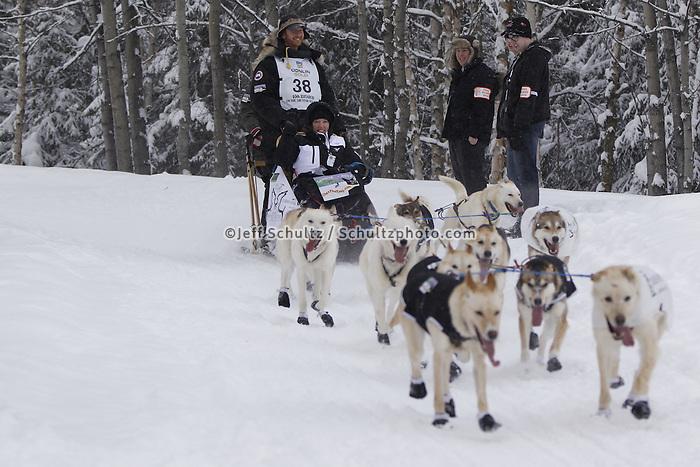 Justin Savidis Saturday, March 3, 2012  Ceremonial Start of Iditarod 2012 in Anchorage, Alaska.