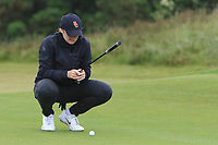 Amelia Garvey (NZL) on the 16th green during Matchplay Semi-Finals of the Women's Amateur Championship at Royal County Down Golf Club in Newcastle Co. Down on Saturday 15th June 2019.<br /> Picture:  Thos Caffrey / www.golffile.ie