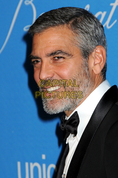 GEORGE CLOONEY.UNICEF Ball 2009 Honoring Jerry Weintraub held at the Beverly Wilshire Hotel, Beverly Hills, California, USA..December 10th, 2009.headshot portrait black white bow tie beard facial hair .CAP/ADM/BP.©Byron Purvis/AdMedia/Capital Pictures.