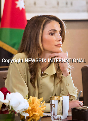 14.05.2017; Amman, Jordan: QUEEN RANIA<br /> meets with the Amman Design Week 2017 (ADW) team for a brief on the project&rsquo;s progress and an update on its newest program.<br /> The Amman Design Week, first inaugurated in September of last year, aims to showcase the designs and talents of local, regional, and international designers and establish Amman as the regional hub for innovation, expression, and experimentation.<br /> Mandatory Photo Credit: &copy;RHC/NEWSPIX INTERNATIONAL<br /> <br /> PHOTO CREDIT MANDATORY!!: NEWSPIX INTERNATIONAL(Failure to credit will incur a surcharge of 100% of reproduction fees)<br /> <br /> IMMEDIATE CONFIRMATION OF USAGE REQUIRED:<br /> Newspix International, 31 Chinnery Hill, Bishop's Stortford, ENGLAND CM23 3PS<br /> Tel:+441279 324672  ; Fax: +441279656877<br /> Mobile:  0777568 1153<br /> e-mail: info@newspixinternational.co.uk<br /> &ldquo;All Fees Payable To Newspix International&rdquo;