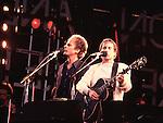 Simon & Garfunkel 1982  Art Garfunkel and Paul Simon..