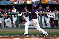 LSU's Jared Mitchell was voted the 2009 College World Series Most Outstanding Player. LSU won the National Championship after defeating Texas. (Photo by Michelle Bishop) .