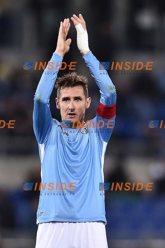 Miroslav Klose Lazio.<br /> Roma 13-03-2016  Stadio Olimpico<br /> Campionato Serie A,<br /> Lazio - Atalanta.<br /> Foto Antonietta Baldassarre / Insidefoto