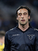 Calcio, Europa League: Lazio vs Sparta Praga. Roma, stadio Olimpico, 17 marzo 2016.<br /> Lazio&rsquo;s Stefano Mauri reacts during the round of 16 second leg soccer match between Lazio and Sparta Praha, at Rome's Olympic Stadium, 17 March 2016. Sparta Praha won 3-0 to join the quarter finals.<br /> UPDATE IMAGES PRESS/Isabella Bonotto