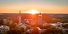 September 12, 2018; Campus skyline sunset (Photo by Matt Cashore/University of Notre Dame)