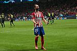 Atletico de Madrid's Juanfran Torres celebrates goal during UEFA Champions League match, Round of 16, 1st leg between Atletico de Madrid and Juventus at Wanda Metropolitano Stadium in Madrid, Spain. February 20, 2019. (ALTERPHOTOS/A. Perez Meca)