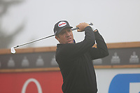 Scott Hend (AUS) tees off the 16th tee during Sunday's fog delayed Round 3 of the 2017 Omega European Masters held at Golf Club Crans-Sur-Sierre, Crans Montana, Switzerland. 10th September 2017.<br /> Picture: Eoin Clarke | Golffile<br /> <br /> <br /> All photos usage must carry mandatory copyright credit (&copy; Golffile | Eoin Clarke)