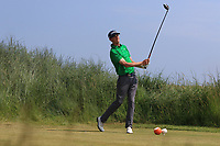 Tiernan McLarnon (Masereene) on the 3rd tee during Round 4 of the East of Ireland Amateur Open Championship 2018 at Co. Louth Golf Club, Baltray, Co. Louth on Monday 4th June 2018.<br /> Picture:  Thos Caffrey / Golffile<br /> <br /> All photo usage must carry mandatory copyright credit (&copy; Golffile | Thos Caffrey)