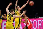 v.li:Ian HUMMER (OL),<br /> Nathan BOOTHE (OL),<br /> Kameron TAYOR (BA),<br /> Aktion,Zweikampf.<br /> <br /> Basketball 1.Bundesliga,BBL, nph0001-Finalturnier 2020.<br /> Viertelfinale am 18.06.2020.<br /> <br /> BROSE BAMBERG-EWE BASKETS OLDENBURG,<br /> Audi Dome<br /> <br /> Foto:Frank Hoermann / SVEN SIMON / /Pool/nordphoto<br /> <br /> National and international News-Agencies OUT - Editorial Use ONLY