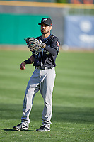 Carlos Asuaje (2) of the El Paso Chihuahuas before the game against the Salt Lake Bees in Pacific Coast League action at Smith's Ballpark on May 1, 2017 in Salt Lake City, Utah. Salt Lake defeated El Paso 9-4.  (Stephen Smith/Four Seam Images)