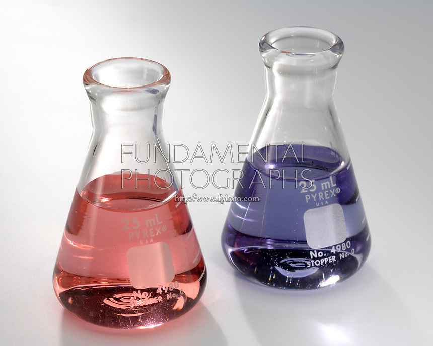 COBALT CHLORIDE: CHEMICAL EQUILIBRIUM<br /> Solutions of Blue CoCl4 &amp; Pink Co(H2O)6<br /> If chloride concentration is low, the equilibrium lies to the right and the solution is pink. With excess chloride, the equilibrium tends to the left- the solution tends to be blue.