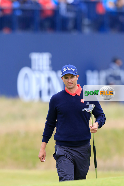 Adam Scott (AUS) on the 17th green during Monday's Final Round of the 144th Open Championship, St Andrews Old Course, St Andrews, Fife, Scotland. 20/07/2015.<br /> Picture Eoin Clarke, www.golffile.ie
