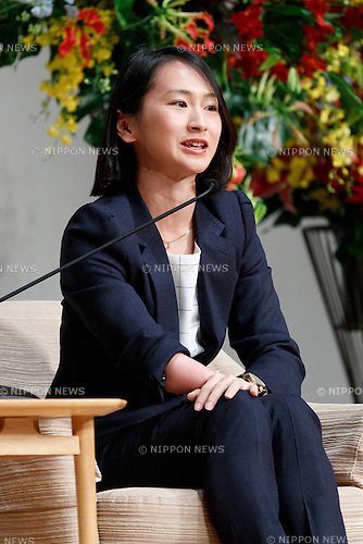 Rio Paralympic track and field bronze medalist Sae Tsuji speaks during the World Assembly for Women : WAW! 2016 on December 13, 2016, Tokyo, Japan. Female leaders from politics, business, sports and society are attending WAW! 2016 to discuss the roles of women in their countries and affiliations. Japan is trying to increase the participation of women in work and Abe's administration set a goal of increasing the share of women in management roles to 30 percent by 2020. WAW! 2016 is being held from December 13 to 14 at the Grand Prince Hotel New Takanawa in Tokyo. (Photo by Rodrigo Reyes Marin/AFLO)