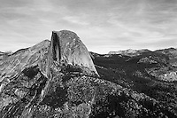 Half Dome from Glacier Point, Yosemite NP, Ca. Image made on 35mm Ilford Delta 100 Film