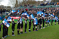 A general view of the Bath Rugby guard of honour. Heineken Champions Cup match, between Bath Rugby and Wasps on January 12, 2019 at the Recreation Ground in Bath, England. Photo by: Patrick Khachfe / Onside Images